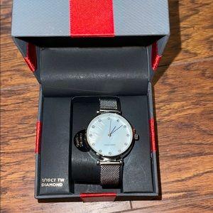 NIB diamond collection silver watch